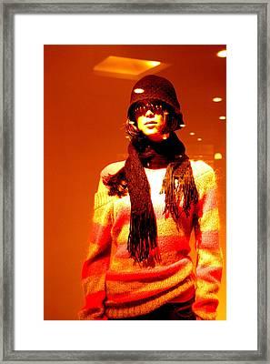 Tammy Winter Girl Framed Print by Jez C Self
