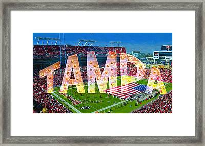 Tampa And The Bucs Framed Print by David Lee Thompson