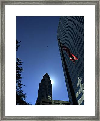 Tampa At Noon On A Monday Framed Print