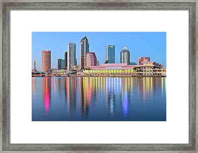 Tampa Bay Aglow 2016 Framed Print