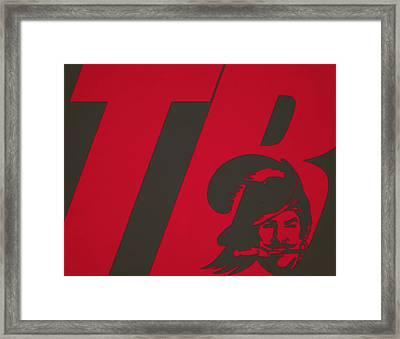Tampa Bay Buccaneers City Name Framed Print by Joe Hamilton