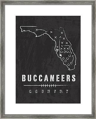 Tampa Bay Buccaneers Art - Nfl Football Wall Print Framed Print by Damon Gray