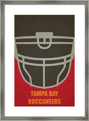 Tampa Bay Buccaneers Helmet Art Framed Print by Joe Hamilton