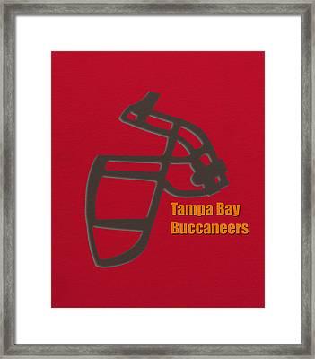 Tampa Bay Buccaneers Retro Framed Print by Joe Hamilton