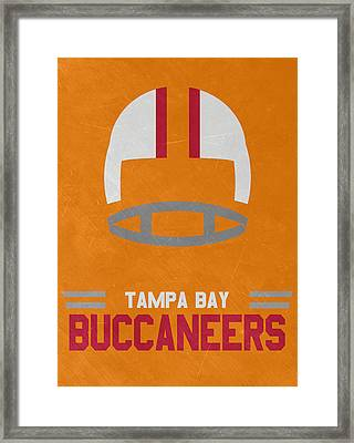 Tampa Bay Buccaneers Vintage Art Framed Print by Joe Hamilton