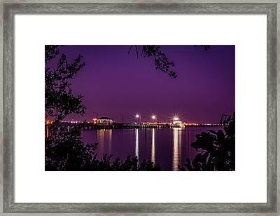 Tampa Bay Fishing Pier Framed Print