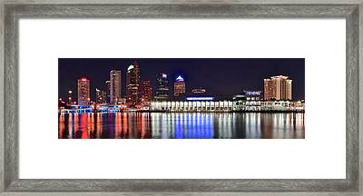 Tampa Bay Panorama Framed Print by Frozen in Time Fine Art Photography
