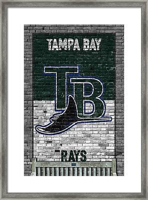 Tampa Bay Rays Brick Wall Framed Print by Joe Hamilton