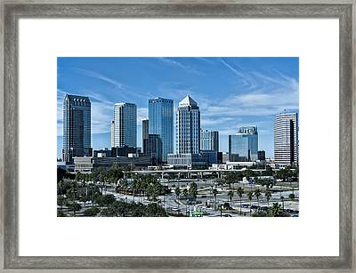 Tampa Bay Skyline Framed Print