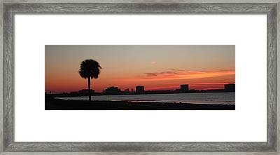 Tampa Bay Sunrise Framed Print by Janet Pugh