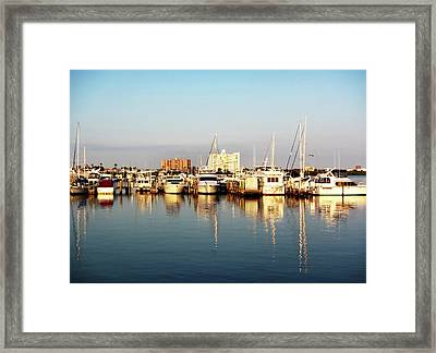 Tampa Bay Sunset 2 Framed Print by Marilyn Hunt