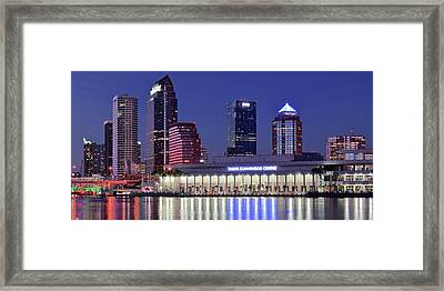 Tampa Convention Center Framed Print by Frozen in Time Fine Art Photography