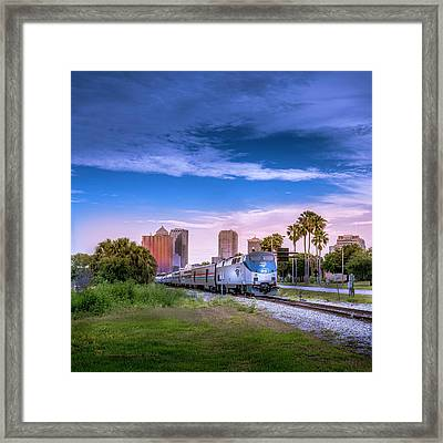 Framed Print featuring the photograph Tampa Departure by Marvin Spates