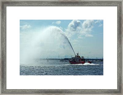 Tampa Fire Rescue Boat Framed Print