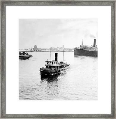Tampa Florida - Harbor - C 1926 Framed Print