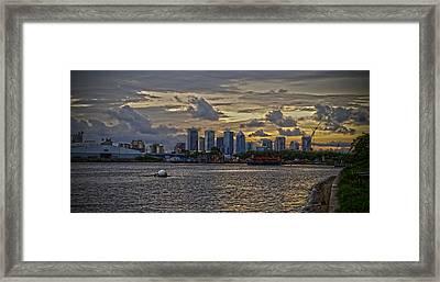 Tampa Skyline Framed Print by Chauncy Holmes