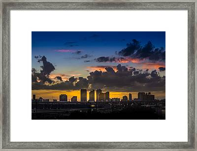 Tampa Sunset Framed Print by Marvin Spates