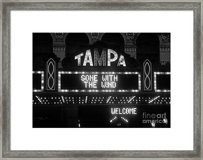 Tampa Theatre 1939 Framed Print by David Lee Thompson