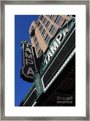 Tampa Theatre  Framed Print by Carol Groenen
