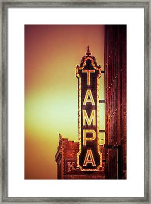 Tampa Theatre Framed Print by Carolyn Marshall