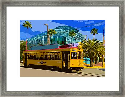 Tampa Trolley Framed Print by David Lee Thompson
