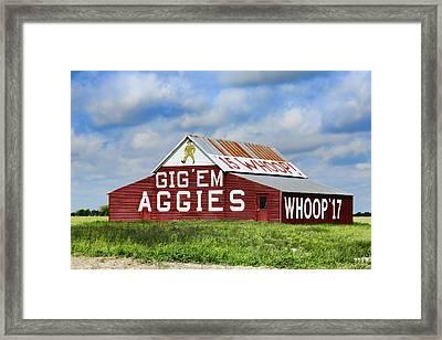 Tamu Aggie Barn Framed Print
