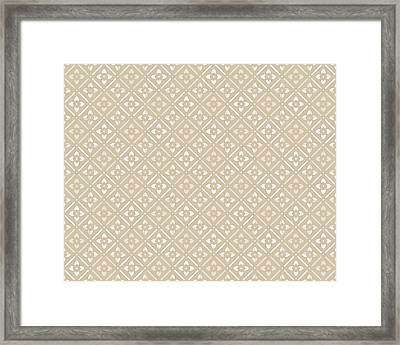 Tan Floral Framed Print by Inspired Arts