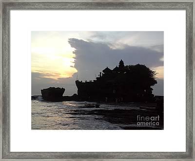 Tanah Lot Temple Bali Indonesia Framed Print