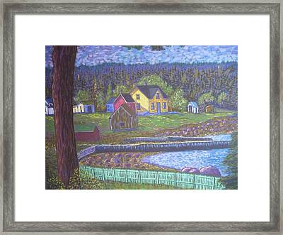 Tancook Houses Framed Print by Rae  Smith