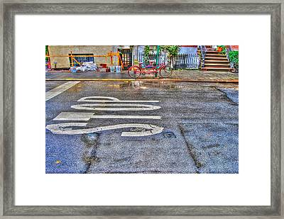 Tandem Bicycle On Grove Street Framed Print by Randy Aveille