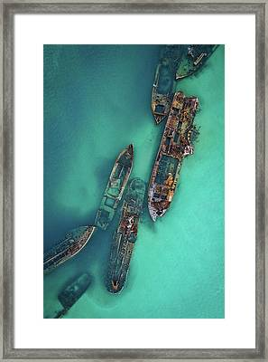 Tangalooma Wrecks Framed Print