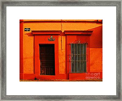 Tangerine Casa By Michael Fitzpatrick Framed Print by Mexicolors Art Photography