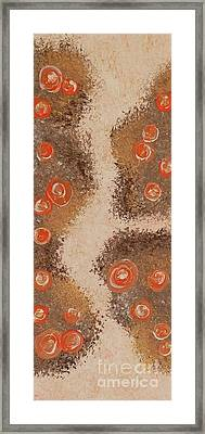 Tangerine Crystal Circles - Part Of My Rocks And Pools Collection By Janet Watson Art Framed Print