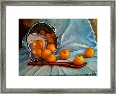Tangerine Family Portrait Framed Print by Terrye Philley