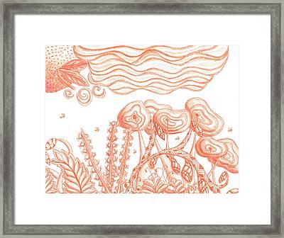 Tangerine Haze Framed Print