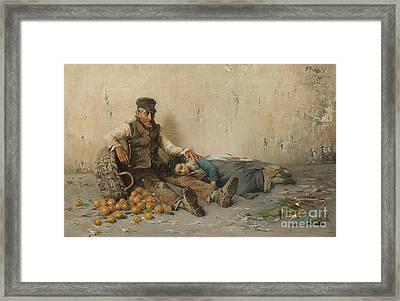 Tangerine Seller Framed Print by MotionAge Designs