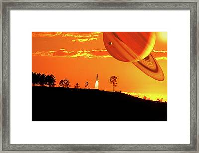 Tangerine Skies Framed Print by Adele Moscaritolo