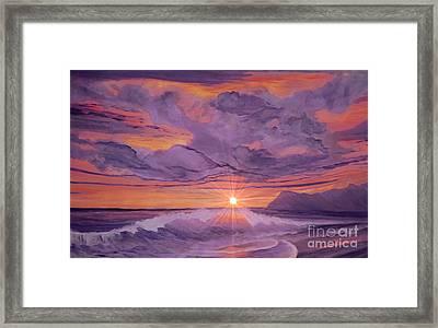 Tangerine Sky Framed Print