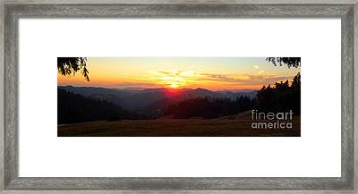 Tangerine Sunset Framed Print by JoAnn SkyWatcher