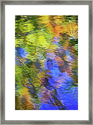 Tangerine Twist Mosaic Abstract Art Framed Print by Christina Rollo