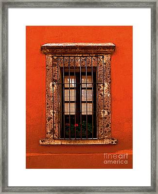 Tangerine Window Framed Print by Mexicolors Art Photography