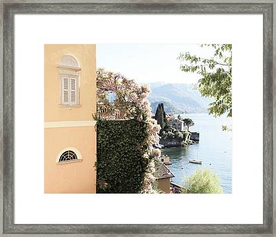 Yellow And Lavender Vista Framed Print
