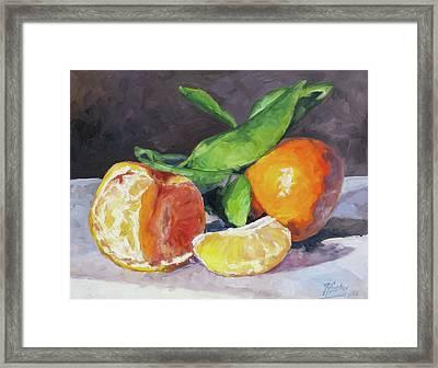 Tangerines Framed Print