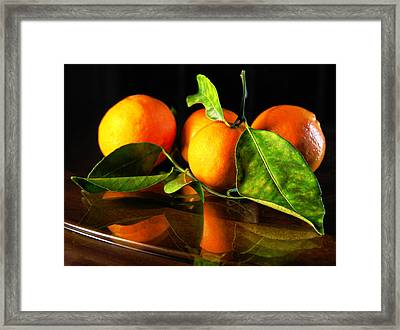 Tangerines Framed Print
