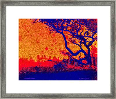 Tangerine Twilight Framed Print