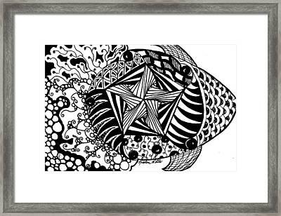 Tangle Fish Framed Print by Kristen Watts