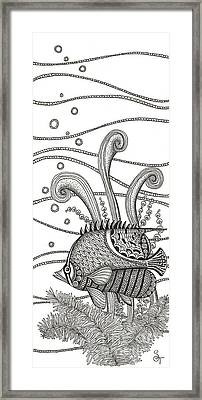Tangle Fish Framed Print