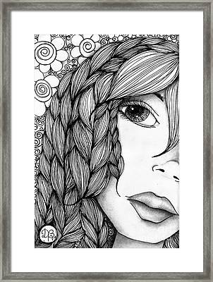 Tangle Lady Framed Print by Delein Padilla