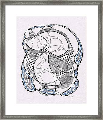 Tangle Monster Drawing Framed Print