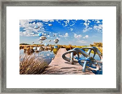 Tangle On The Boardwalk - Something's Not Right Framed Print